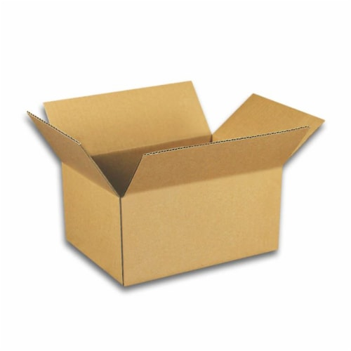 EcoSwift 6 x 6 x 5 Inch Corrugated Cardboard Packing Boxes for Moving (50 Pack) Perspective: front