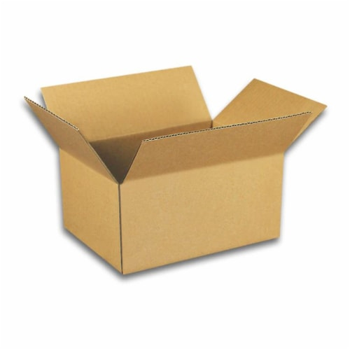 EcoSwift 10 x 8 x 4 Inch Corrugated Cardboard Packing Boxes for Moving (50 Pack) Perspective: front