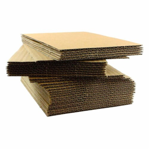 EcoSwift 8.5 x 11 x 0.12 Inch Corrugated Cardboard Pads for Moving (100 Pack) Perspective: front
