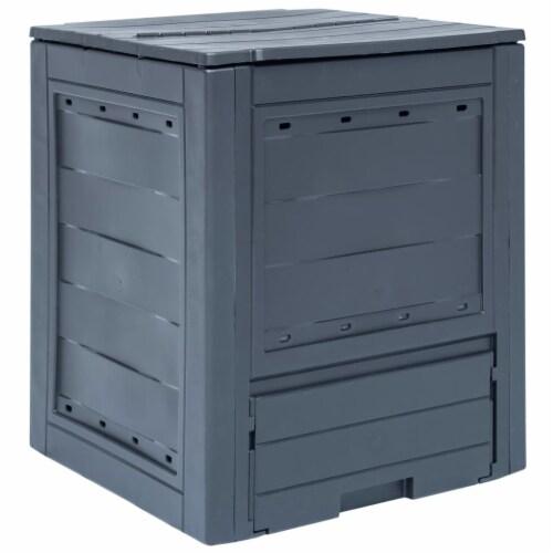 "vidaXL Garden Composter Gray 23.6""x23.6""x28.7"" 68.7 gal Perspective: front"