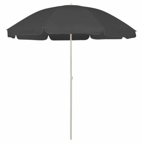vidaXL Beach Umbrella Anthracite 94.5 Perspective: front