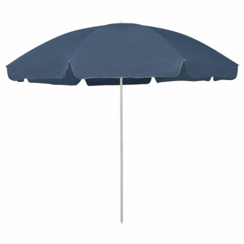 vidaXL Beach Umbrella Blue 118.1 Perspective: front