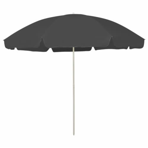 vidaXL Beach Umbrella Anthracite 118.1 Perspective: front