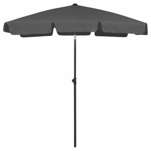 vidaXL Beach Umbrella Anthracite 70.9 x47.2 Perspective: front