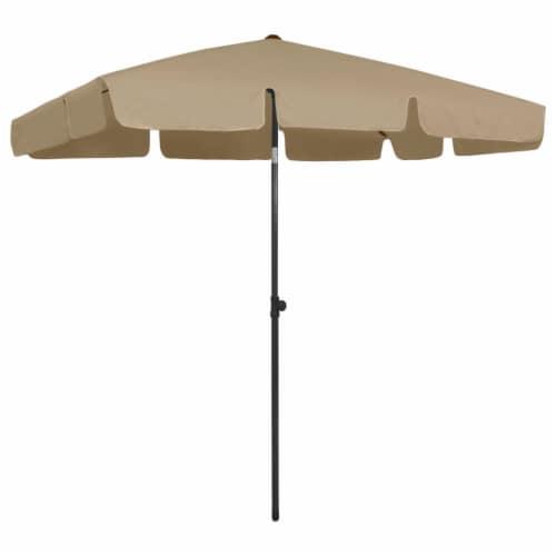 vidaXL Beach Umbrella Taupe 78.7 x49.2 Perspective: front