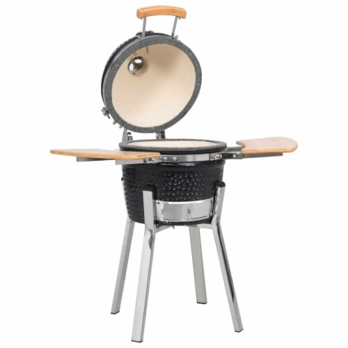 Kamado Barbecue Grill Smoker Ceramic 31.9 Perspective: front