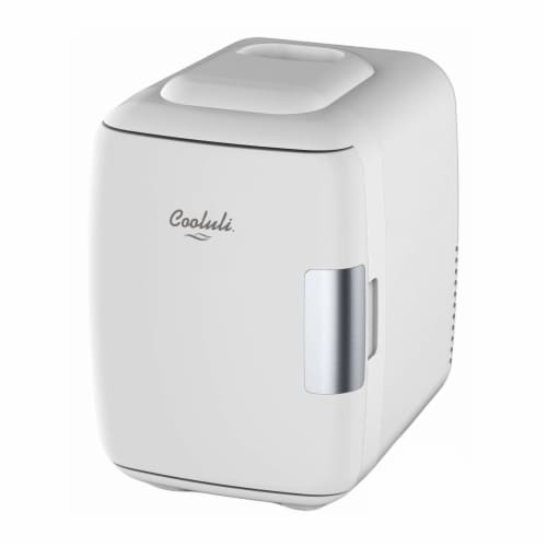 Cooluli Classic 4 Liter Portable Compact Mini Fridge - White Perspective: front