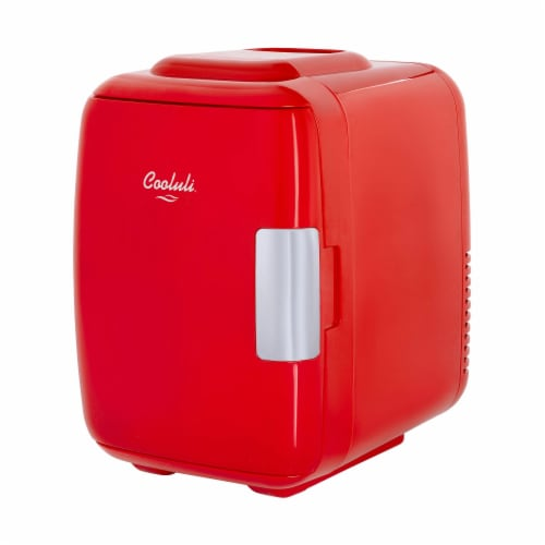 Cooluli Classic 4 Liter Portable Compact Mini Fridge - Red Perspective: front