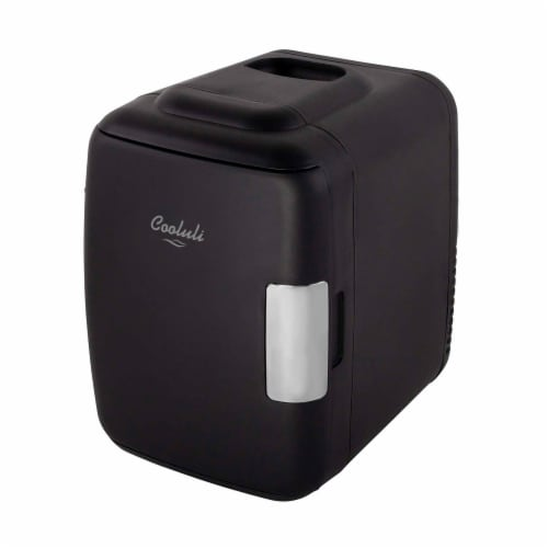 Cooluli Classic 4 Liter Portable Compact Mini Fridge - Black Perspective: front