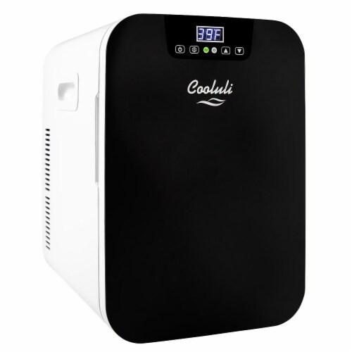 Cooluli Concord 20 Liter Portable Compact Mini Fridge - Black Perspective: front