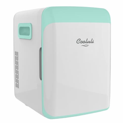 Cooluli Classic 10 Liter Portable Compact Mini Fridge - Turquoise Perspective: front