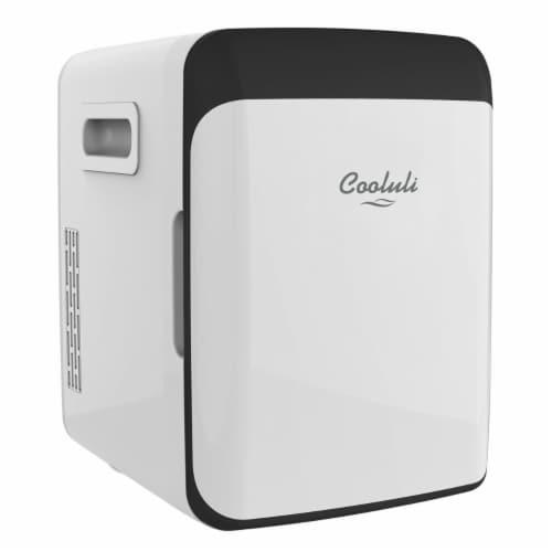 Cooluli Classic 10 Liter Portable Compact Mini Fridge - White Perspective: front