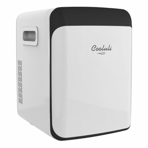Cooluli Classic 15 Liter Portable Compact Mini Fridge - White Perspective: front