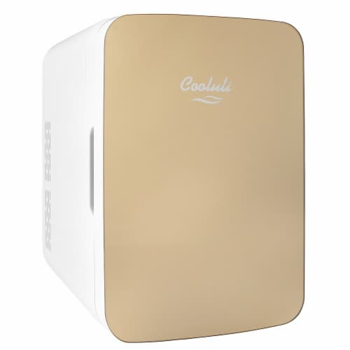Cooluli Infinity 10 Liter Portable Compact Mini Fridge - Gold Perspective: front