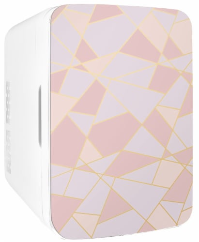 Cooluli Infinity 10 Liter Portable Compact Mini Fridge - Fractal Pink Perspective: front