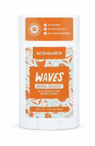 Schmidt's Waves Aluminum Free Natural Deodorant Perspective: front