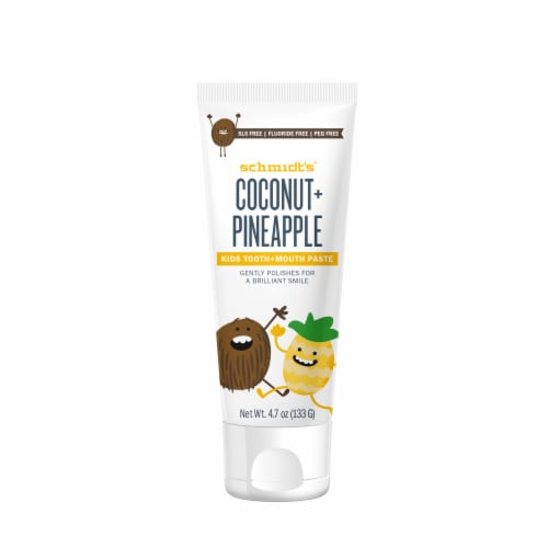 Schmidt's Coconut & Pineapple Tooth Paste Perspective: front