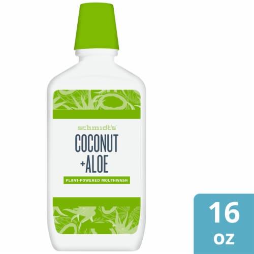 Schmidt's Coconut + Aloe Fluoride-Free Mouthwash Perspective: front