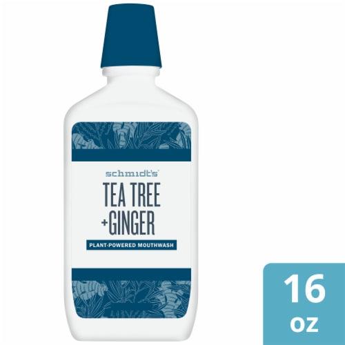 Schmidt's Tea Tree + Ginger Mouthwash Perspective: front