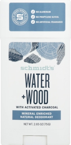 Schmidt's Water + Wood Mineral Enriched Natural Deodorant Perspective: front