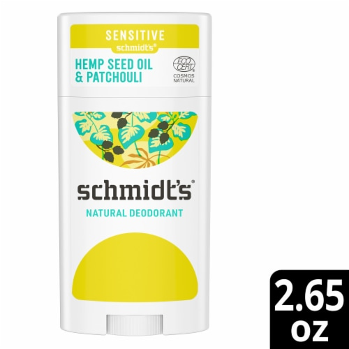 Schmidt's Patchouli and Hops Scented Deodorant Perspective: front
