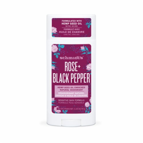 Schmidt's Rose + Black Sensitive Skin Natural Deodorant Perspective: front