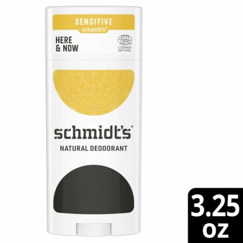 Schmidt's Here + Now Sensitive Skin Formula Deodorant Perspective: front