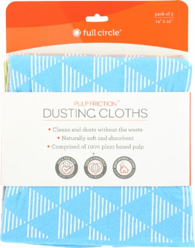 Full Circle Pulp Friction Dusting Cloths Perspective: front