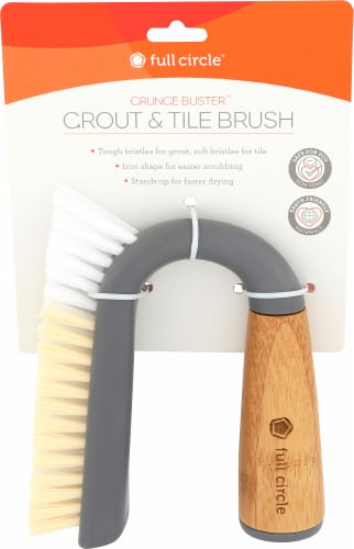 Full Circle Grunge Buster Grout & Tile Brush - Gray Perspective: front