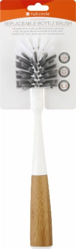 Full Circle Clean Reach Replaceable Bottle Brush - White Perspective: front