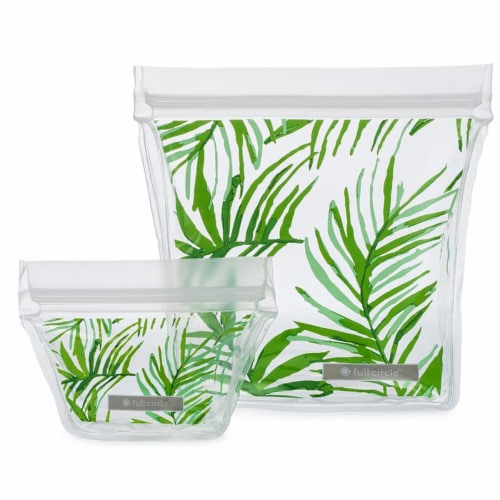 Full Circle 235208 Cactus Party Travel Reusable Ziptuck Bag Perspective: front