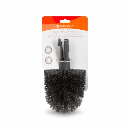 Full Circle Scrub Queen Toilet Brush Refill Perspective: front
