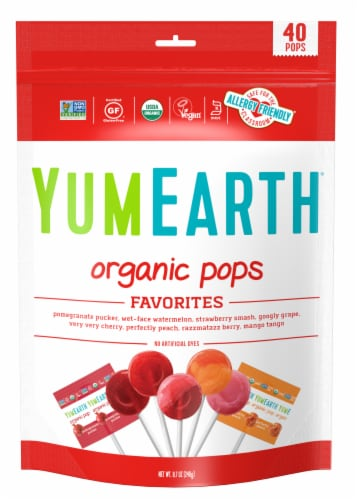 Yum Earth 40-Count Organic Pops Variety Pack Perspective: front
