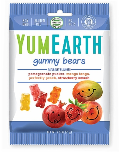 Yum Earth  Organics Gummy Bears   Assorted Perspective: front