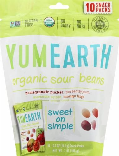 Yum Earth Naturals Sour Jelly Bean Perspective: front
