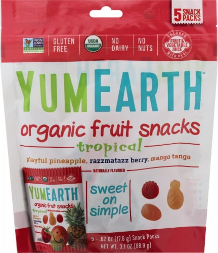 Yum Earth Organics Fruit Snacks Perspective: front