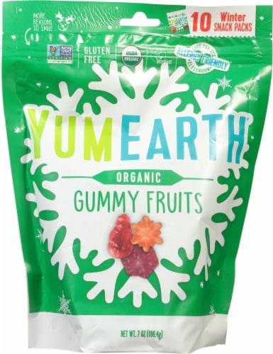 Yum Earth Organic Gummy Fruits Perspective: front