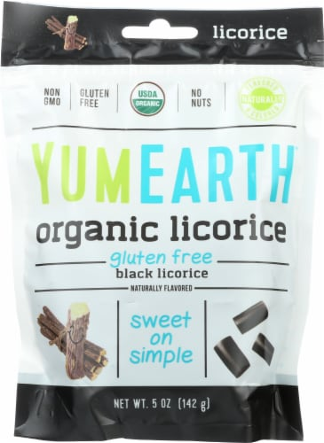 Yum Earth Organic Black Licorice Perspective: front