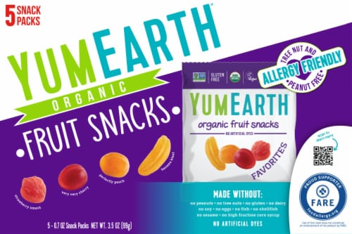 Yum Earth Organic Favorites Fruit Snacks Perspective: front