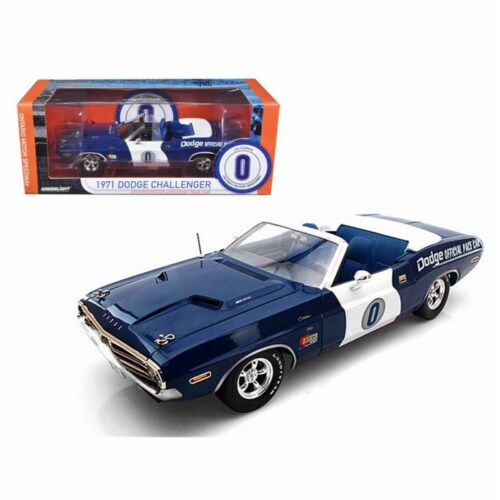 Greenlight 12871 1971 Dodge Challenger Hemi Convertible Ontario Speedway Pace Car Limited to Perspective: front