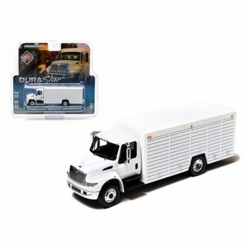 Greenlight 29776 2012 International Durastar 4400 Beverage Truck White in Blister Pack 1-64 D Perspective: front