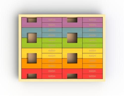 U Build It Deluxe Set/48 Blocks Perspective: front