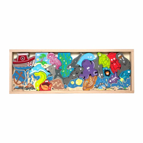 Ocean A-Z Puzzle and Playset Perspective: front