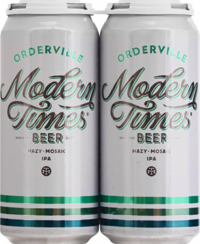 Modern Times Mosaic Hazy IPA Perspective: front