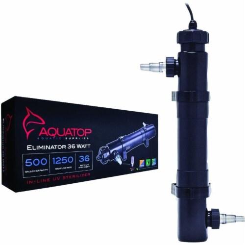 Aquatop Aquatic Supplies 003551 36 watts Inline UV Aquarium Sterilizer - Black Perspective: front