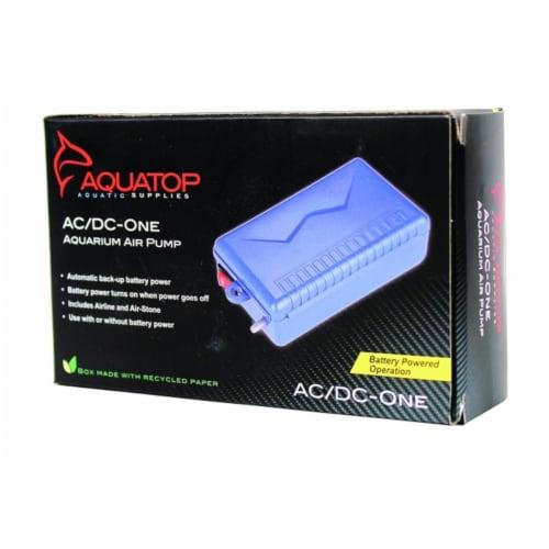 Aquatop Aquatic Supplies Aquarium Air Pump 2.5 L-Min Blue AC-DC-ONE Perspective: front