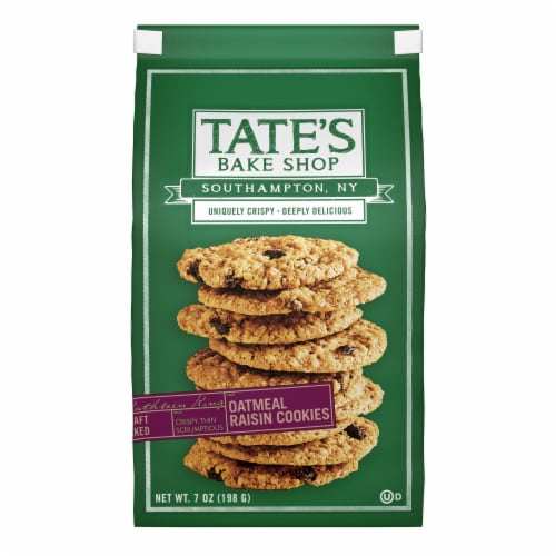 Tate's Bake Shop Oatmeal Raisin Cookies Perspective: front