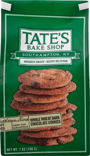 Tate's Bake Shop Whole Wheat Dark Chocolate Cookies Perspective: front