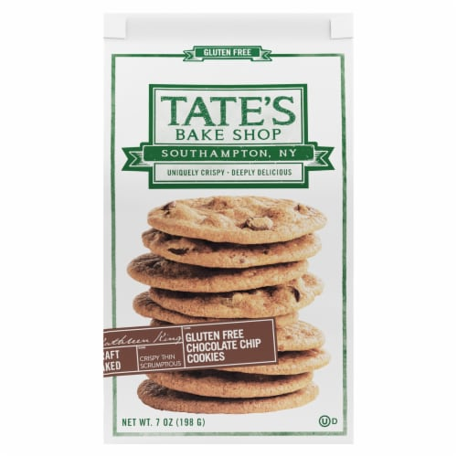 Tate's Bake Shop Gluten Free Chocolate Chip Cookies Perspective: front