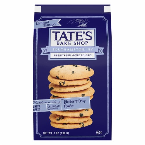 Tate's Bake Shop Limited Edition Blueberry Crisp Cookies Perspective: front